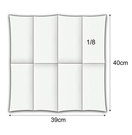 Personnalisée 2 couleurs<Br>Serviette BookFold<Br>Airlaid BLANC 39x40cm