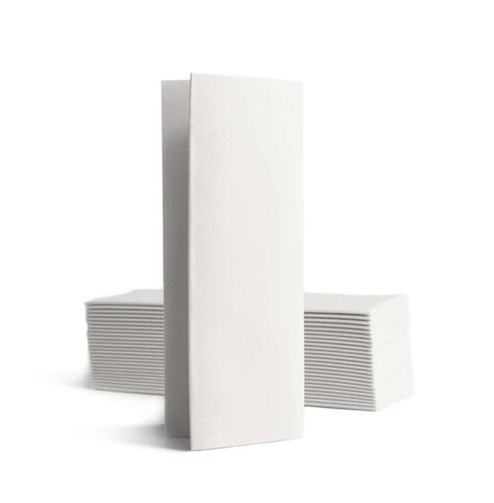 Personnalisée 2 couleurs<Br>Serviette BookFold<Br>Airlaid BLANC 32x40cm