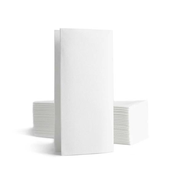 Personnalisée 1 couleur<Br>Serviette BookFold<Br>Airlaid BLANC 39x40cm