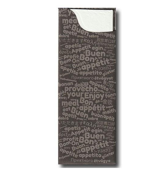 Pochette à couverts<Br>Couleur GRIS<Br>Modèle Charme OUATE