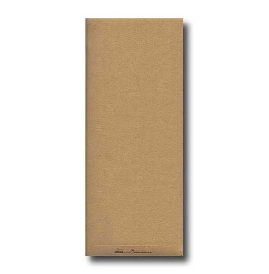 Pochette à couverts, Couleur Kraft, Modèle Charme, Gaufrée 38x38cm.