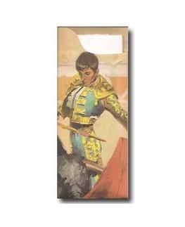 Pochette à couverts<Br>Thème TORERO<Br>Modèle Charme<Br> Gaufrée 38x38cm.