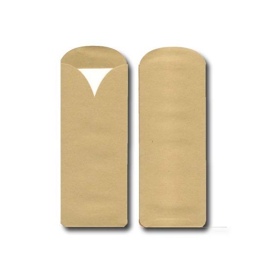 Pochette à couverts<Br> Kraft brun<Br>Modèle Elegance<Br>Serviette 33x33 cm<Br>en fibre de bambou
