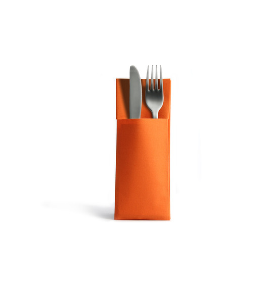 Serviette en Airlaid 32x40cm<Br>ORANGE