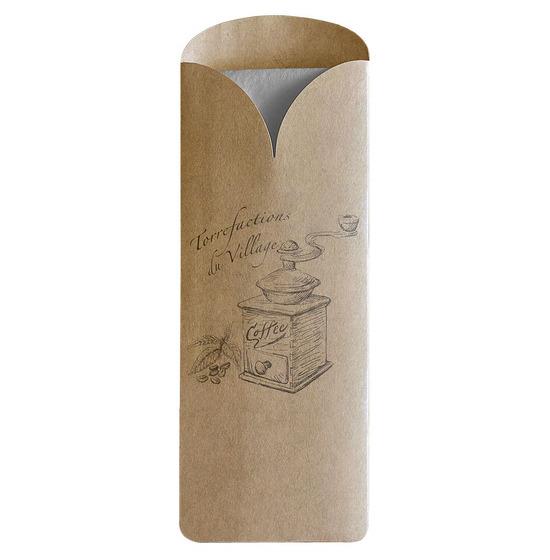 Pochettes personnalisées<Br>Modèle KRAFT Elegance<Br>Ouate 33x33 cm