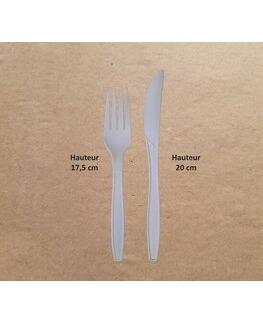 Couverts PLA Couteau+Fourchette
