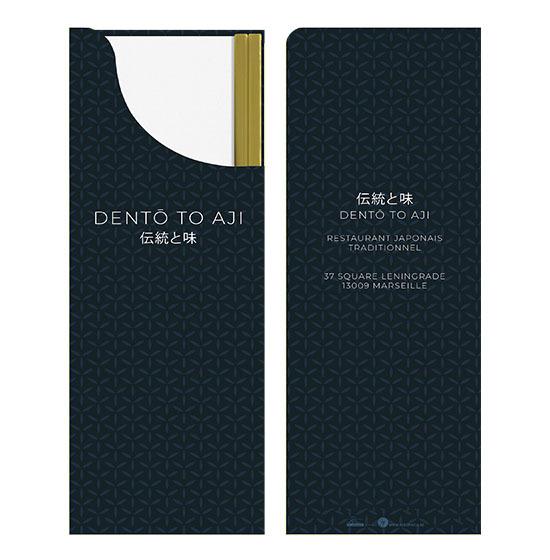 Pochettes personnalisées<Br>Modèle avec baguettes<Br>Ouate 25x40 cm