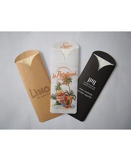 Les pochettes personnalisées<Br>Modèle Elegance<Br>Ouate 33x33cm
