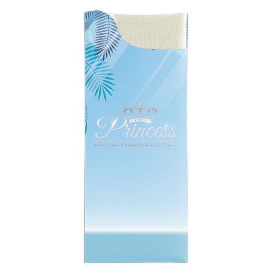 Les pochettes personnalisées<Br>Modèle Charme<Br>Ouate 40x40 cm.