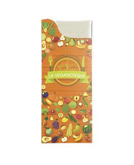 Les pochette personnalisées<Br>Modèle Charme<Br> Gaufrée 38x38cm.