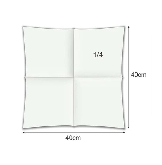 Serviette Airlaid 40x40 cm<Br>ROSE CLAIR, pliage 1/4